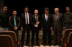 Türk Dünyası Sinamacılar birliği Genel sekreteri Oktay mir Gasım ve Ödül alaın ögrencisi Aydın Necefov