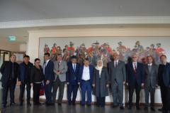 Türkiye Kırgızistan  Manas Üniversitesi Rektörü Prof.Dr. Sabahattin Blcı Festival heyeti, AK Parti Kahramanmaraş Milletvekili ve ögretim Üyeleri